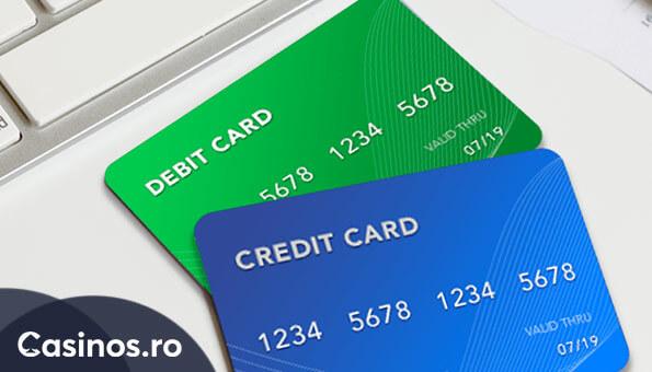 card de credit - card de debit - metode de plata la cazinouri online
