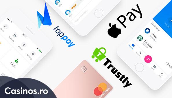 apple pay - top pay - trustly la cazinouri online